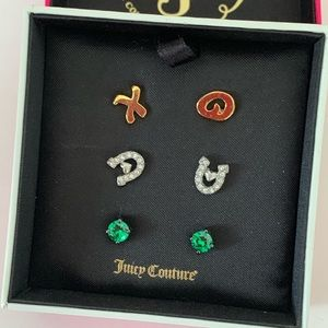 New Juicy Couture Set of Earrings